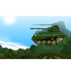 A fighting tank vector image