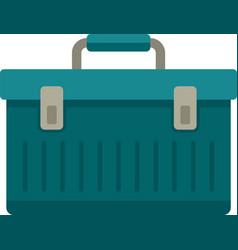 Aircraft repair tool box icon flat isolated vector