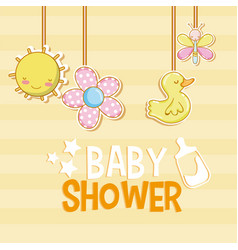 baby shower card cartoons vector image