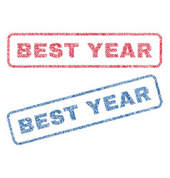 best year textile stamps vector image