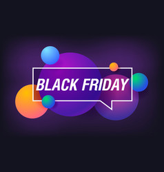 black friday in design banner template for vector image