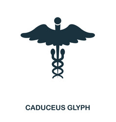 caduceus glyph icon line style icon design ui vector image