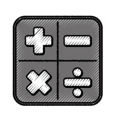 calculator math application icon vector image
