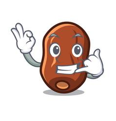Call me dates fruit mascot cartoon vector