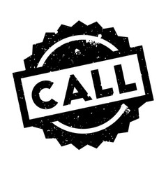 call rubber stamp vector image