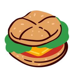 cheeseburger or hamburger restaurant or diner vector image