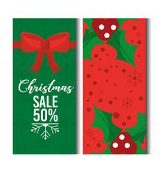 christmas sale discount season offer horizontal vector image