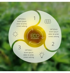 Circle ecology infographic nature blur background vector