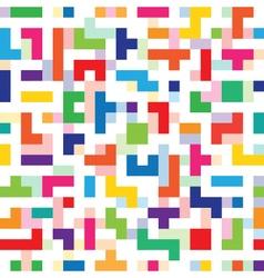 Colorful tetris seamless vector