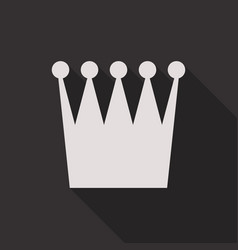 Crown icon in flat style with long shadow vector