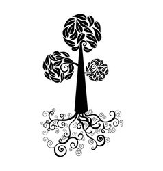 Cute tree icon vector image