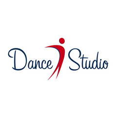 dance studio logo dancer logotype vector image