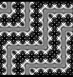 design seamless monochrome zigzag pattern vector image