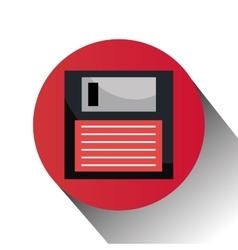 Diskette computer icon vector