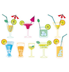 Drinks and cocktails vector