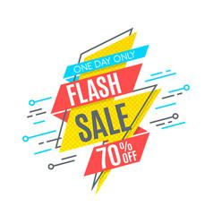flash sale promotion banner flat design price vector image