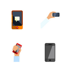 flat icon touchscreen set of chatting telephone vector image