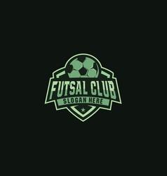 Footbal futsall logo badge vector