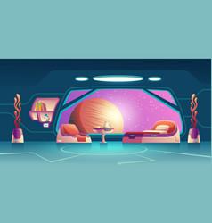 future space explorer room interior cartoon vector image