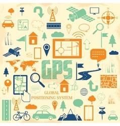 GPS Application vector image