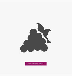 Grape icon simple fruit vector
