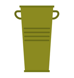 Green garbage tank with handles icon isolated vector