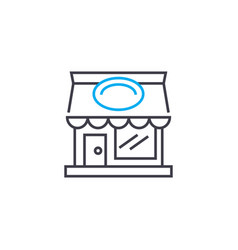 grocery store linear icon concept grocery store vector image