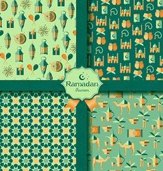 Happy Ramadan icons set of Arabian vector