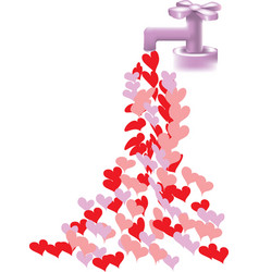 heart faucet vector image