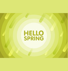 hello spring modern cover design seasonal vector image