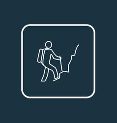 hiking man icon line symbol premium quality vector image