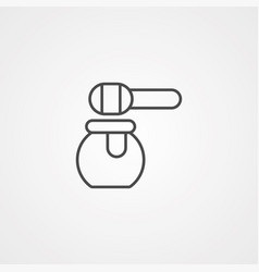 honey icon sign symbol vector image