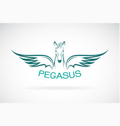 Horse pegasus design on white background wild vector
