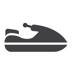 Jet ski glyph icon transport and vehicle vector