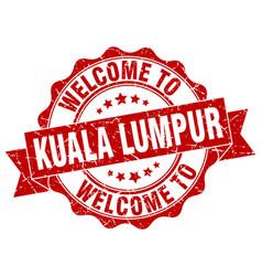 Kuala lumpur round ribbon seal vector