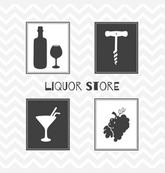 Liquor store or bar posters vector