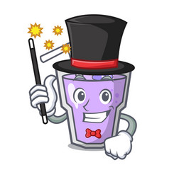Magician berry smoothie mascot cartoon vector