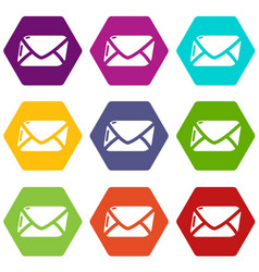 mail icons set 9 vector image