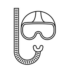 mask for dive vector image