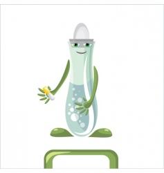 medical flask vector image