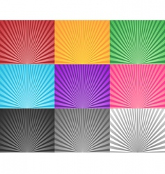 multicoloured sunbursts vector image
