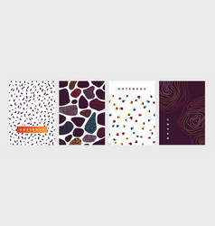 Notebook cover abstract shapes and repeated dots vector