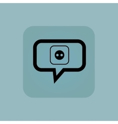 Pale blue socket message icon vector