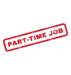 Part-Time Job Rubber Stamp vector image