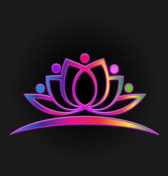purple lotus vector image