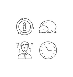 Question mark line icon support consultant sign vector