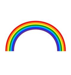 Rainbow icon cartoon 2 vector