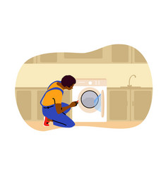 repair laundry work replacement concept vector image