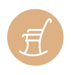 Rocking chair isolated icon vector