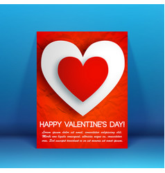 romantic beautiful greeting flyer vector image